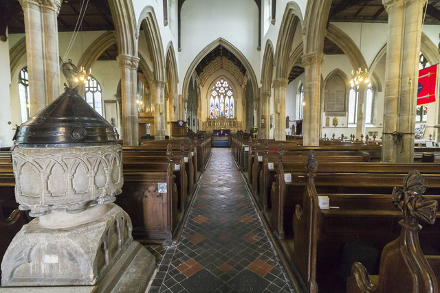 Interior, All Saints' church, Oakham