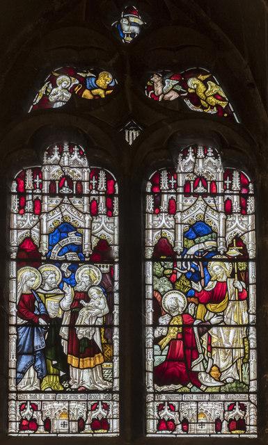 West window, All Saints' church, Oakham