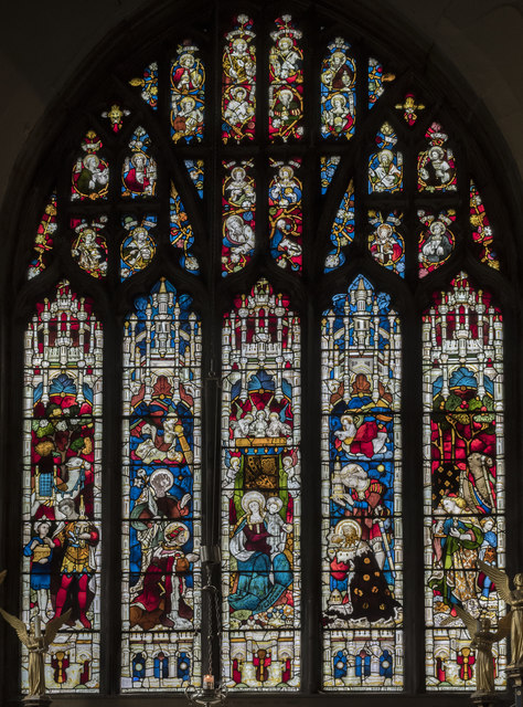 East window, north chapel, All Saints' church, Oakham