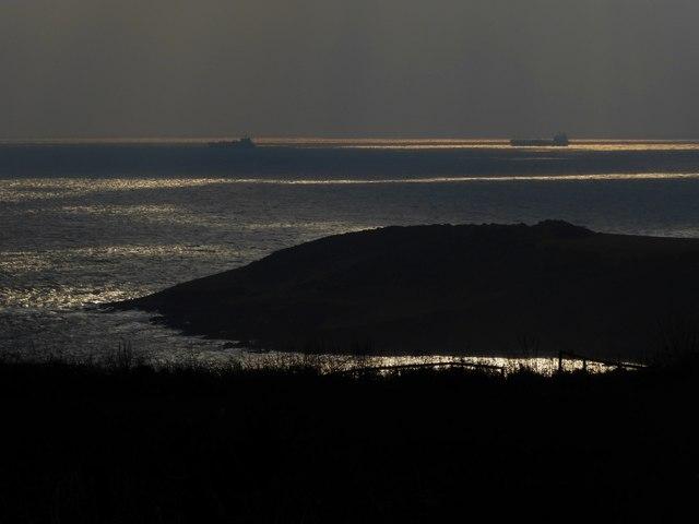 Ships passing Rosemullion Head
