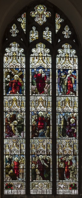 South transept window, All Saints' church, Oakham