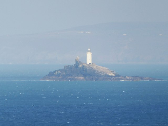 Godrevy Island and its lighthouse