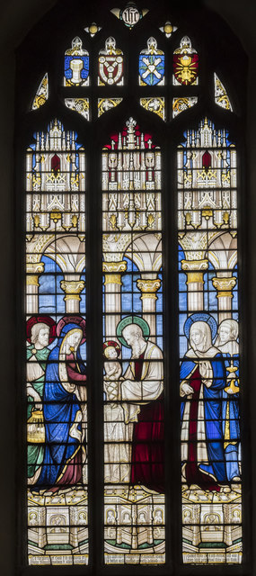Stained glass window, All Saints' church, Oakham