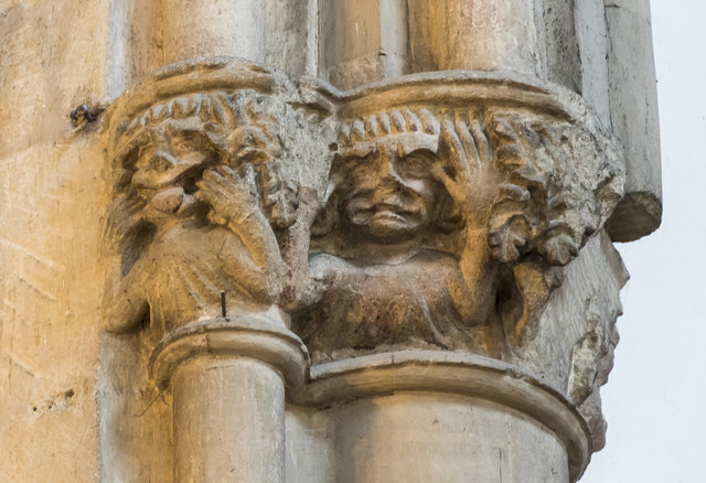 Carved capital, All Saints' church, Oakham