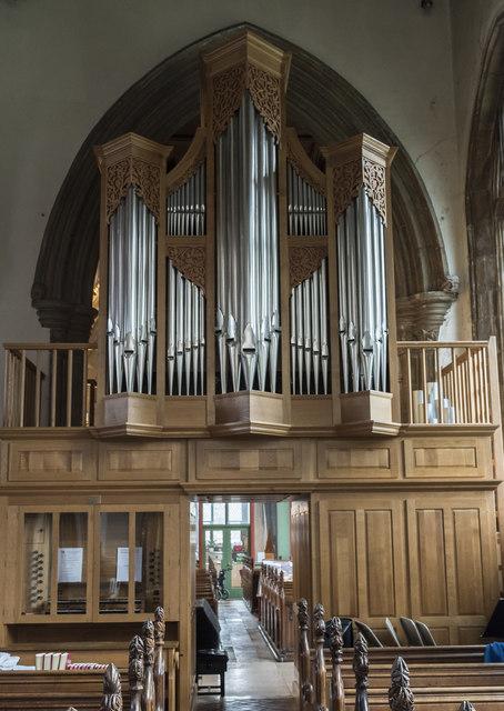 Organ, All Saints' church, Oakham