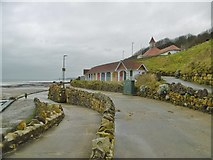 TA0487 : Scarborough, beach huts by Mike Faherty