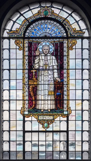 St Pius X, St Charles Square - Stained glass window