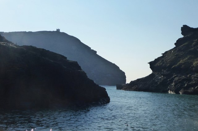 Craggy entrance to Boscastle Harbour