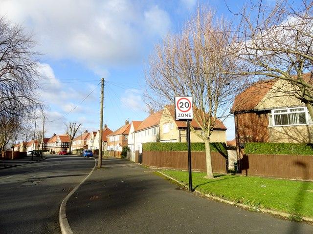South end of Fordham Road, Sunderland