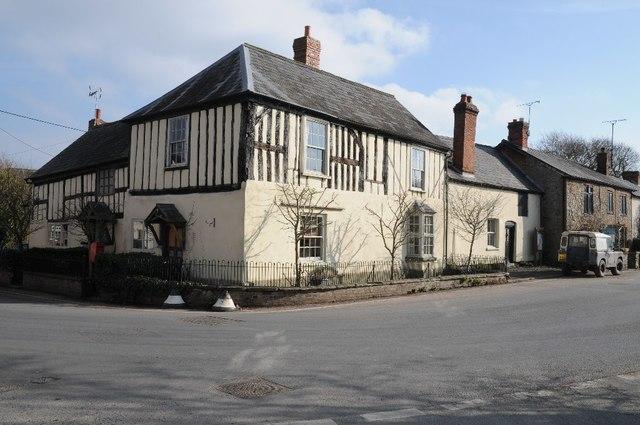 Timber-framed house in Lyonshall