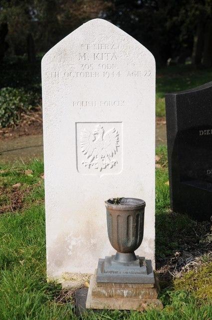 War Grave of Marian Kita, a Polish Airman