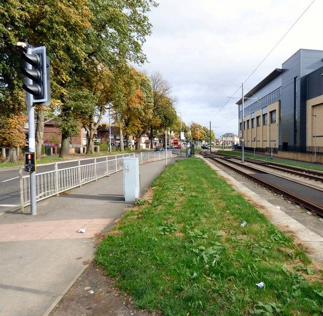 Tramlines at Wythenshawe