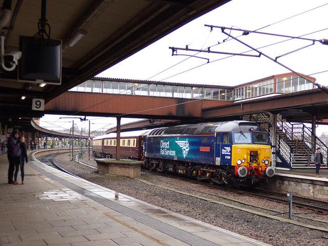 Charter train at York