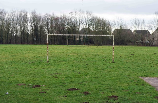 Football pitch, Ralegh Crescent Recreation & Play Park, Witney, Oxon