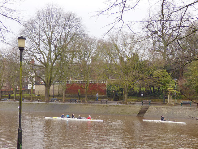 Rowers on the Ouse in York