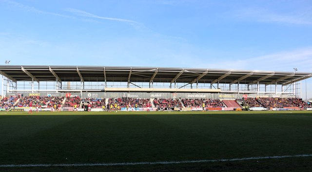 The Alwyn Hargrave Stand at Sixfields Stadium