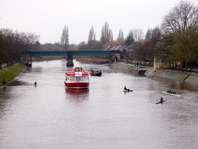 Boats on the Ouse in York
