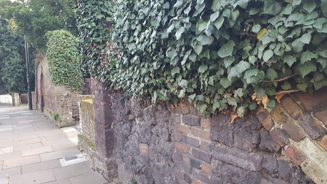 Wall by the High Street, London N14