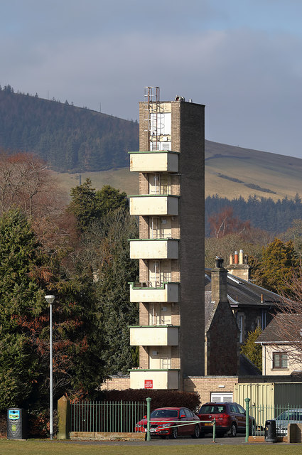 Galashiels Fire Station tower