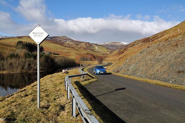 The Megget Reservoir Road at Cramalt