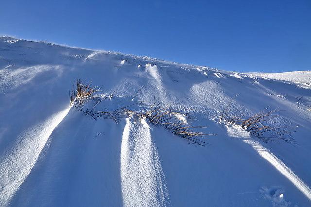 A snow slope at Long Bank