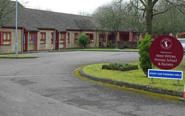 Entrance to West Witney Primary School & Nursery, Witney, Oxon