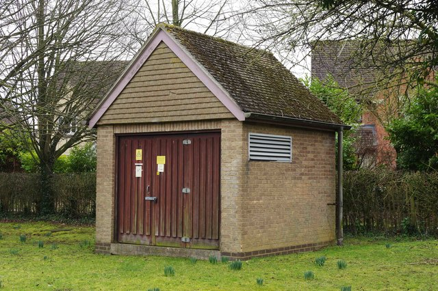 Electricity substation, Edington Road, Witney, Oxon
