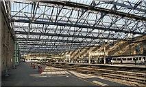 NY4055 : Roof repairs at Carlisle Citadel Railway Station by Greg Fitchett
