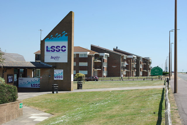 LSSC and sea front flats, Littlehampton