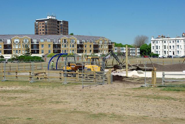 Work on play area, East Beach Green, Littlehampton