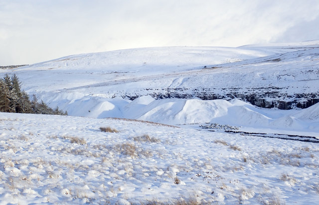 Snow covered moorland in Bolli Hope