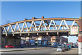 NS5468 : The rail bridge over Great Western Road at Anniesland in Glasgow's west end by Garry Cornes
