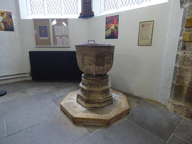 St Helen Stonegate - font