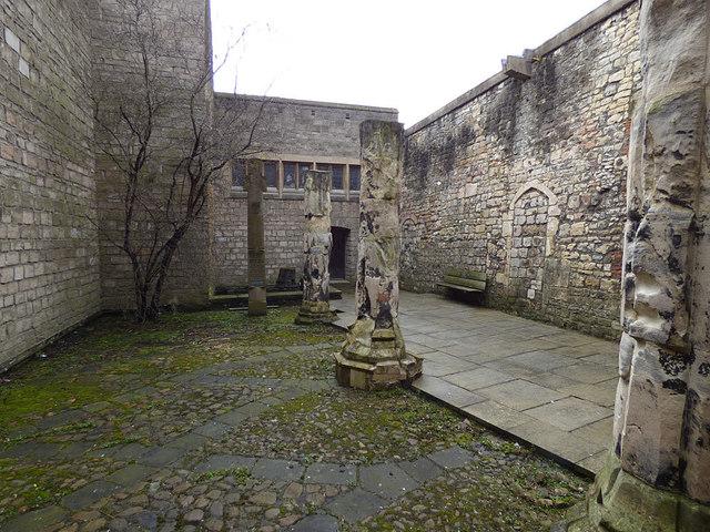 St Martin le Grand, York - courtyard