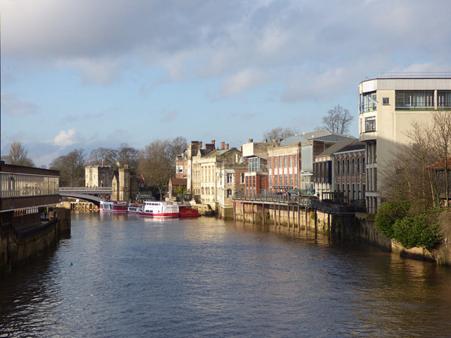 The river upstream of Ouse Bridge, York