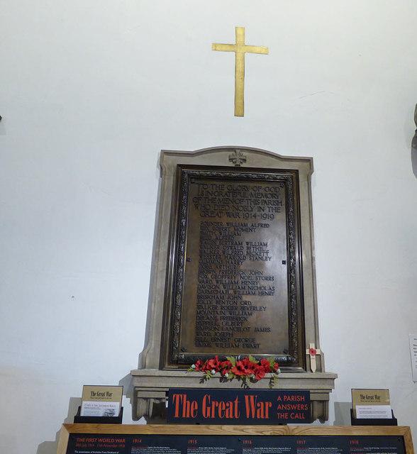 Holy Trinity Micklegate - First World War memorial