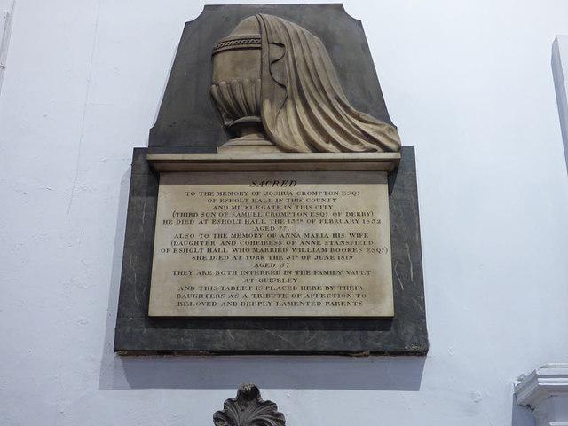Holy Trinity Micklegate - Crompton memorial