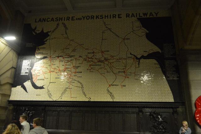 Lancashire and Yorkshire Railways Map, Victoria Station