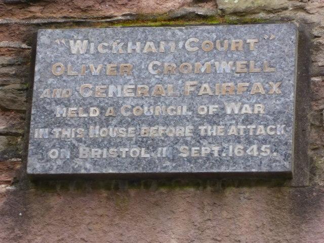 Wickham Court Plaque
