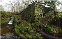 NS4176 : The ruins of Garshake Corn Mill by Lairich Rig