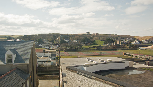 A view of Bude from Wroes restaurant