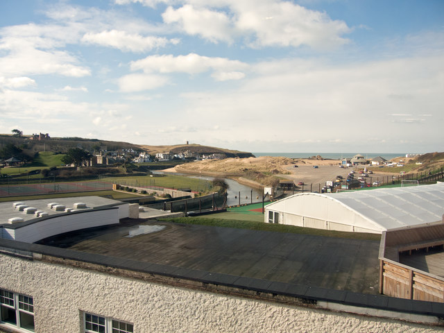 Bude Haven and surrounding area viewed from Wroes restaurant