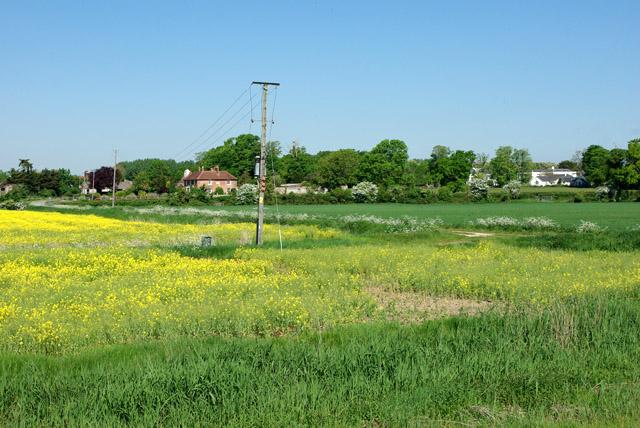 View towards Manor Farm and Tortington Manor