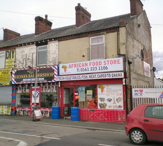 Shops on Wellington Street, Gorton