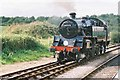 SY9582 : BR Class 4MT no.80078 at Norden Station on the Swanage Railway by Jonathan Hutchins