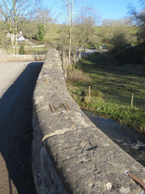 Bridge parapet over the River Alyn/Afon Alun