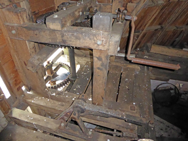 Great Mill, Haddenham - manual winding mechanism