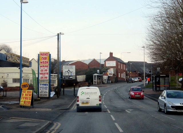 Reddal Hill Road in Cradley Heath