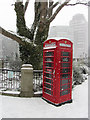 TQ3079 : Phone box near Lambeth Bridge : Week 9