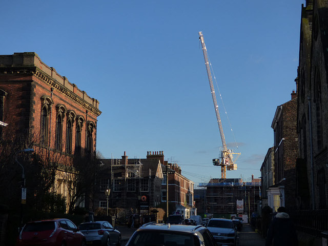 Crane at the end of Priory Street